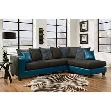 chenille sectional sofa sofatrendz diva black teal chenille faux leather sectional