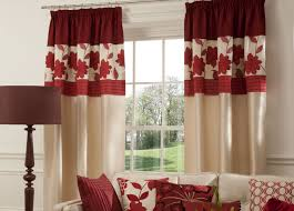 ... Drop Dead Gorgeous Accessories For Window Treatment Decoration Using  Modern Red Curtain : Astounding Picture Of ...