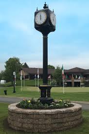 golf post clock solar golf post clock