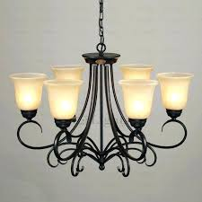 modern wrought iron chandelier black wrought iron chandelier rustic 6 light glass shade twig black wrought