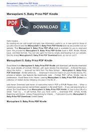 Marsupilami 5. Baby Prinz PDF Kindle