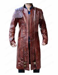 guardians of the galaxy 2 coat star lord leather coat