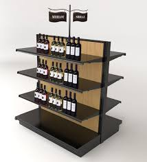 Gondola Display Stands Liquor Store Gondola Shelving Wood Wine Display Ideas 2