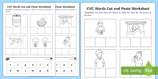 No prep needed, just print and go! Phase 2 Set 2 Cvc Words Cut And Paste Worksheet Worksheet Phase 2 Set 2
