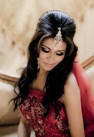 indian wedding hair halfup