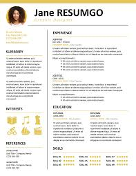 Kallias Contemporary Resume Template Resumgocom