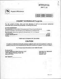 US EPA, Pesticide Product Label, DISARM M GRANULAR FUNGICIDE, 01/05/2012