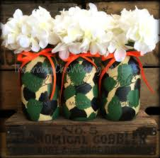 Camo Wedding Centerpieces - Centerpieces \u0026 Bracelet Ideas