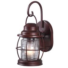 home decorators collection harbor 1 light copper outdoor small wall lantern