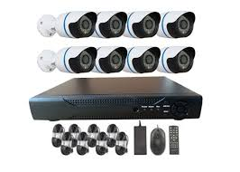 Outdoor Waterproof 1000TVL 8 Channel House Security Cameras Systems With IR CUT