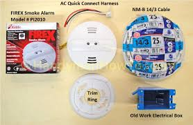 how to install a hardwired smoke alarm ceiling wiring kidde firex smoke alarm model pi2010 and nm b 14 3 wire