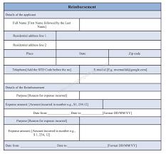 Reimbursement Template Sample Reimbursement Form Template Sample Forms
