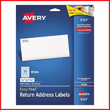 Avery Return Address Labels 8167 Avery 8167 Inkjet Return Address Labels 1 2 X 1 3 4