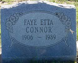Faye Etta Hyer Connor (1906-1989) - Find A Grave Memorial
