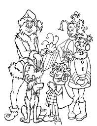 Small Picture Grinch gives out christmas gifts coloring pages Hellokidscom