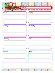 Horizontal Weekly Planner Template Free Printable Weekly Planners 5 Designs Planner Pinterest