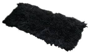black fur rug 2 x 4 lamb fur rug jet black contemporary area rugs by curly