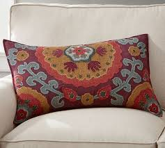 houston suzani lumbar pillow cover pottery barn decorative lumbar pillows for chairs