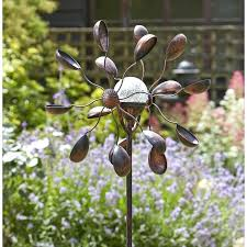 wind garden spinners garden art solar wind spinner illuminated led globe metal garden wind spinners uk