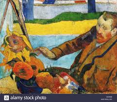 paul gauguin vincent van gogh painting sunflowers 1888 oil on canvas van gogh museum amsterdam