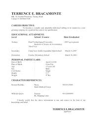 Resume Without Objective Samples Resume Without Objective Sample Food Server Resume Objective Food