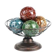 Orb Decorative Ball Decorative Orbs And Bowls Acanthus Orb Bowl Decorative Orbs Bowls 30
