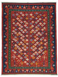 red new turkish kilim rug