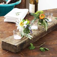 Recycled Wood Centerpiece Plank