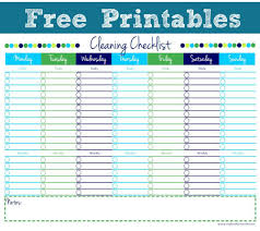 Cleaning Chart Checklist Cleaning Checklist Free Printable Cleaning Checklist