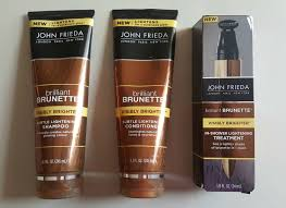 john frieda brilliant brunette visibly brighter subtle lightening shampoo conditioner