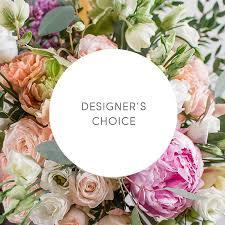 custom flower arrangement in studio