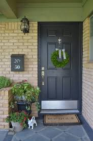 modern mailbox ideas. Decorative Mid Century Modern Mailbox With Brick Wall And Plants Plus Lamp Also Painted Wood Door For Exterior Design Ideas
