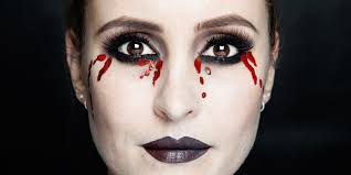 halloween how to bleeding eyes makeup tutorial mac makeup step by