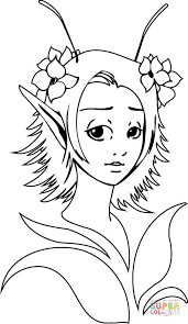 Small Picture Fantasy Elf Girl coloring page Free Printable Coloring Pages