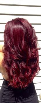 Black Cherry Hair Color With Highlights