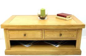 oak side table with drawer end coffee tables 2 drawers antique solid