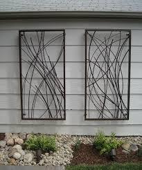 outdoor metal hanging wall art