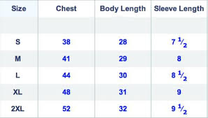 Size Chart Cc Brand