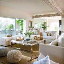 Wide Open Beige Living Space Design