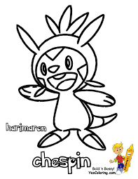 Coloring all generation 6 pokemon x & y. Spectacular Pokemon X And Y Chespin Swirlix Free Coloring