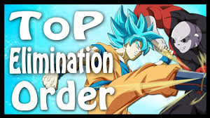 Dbs Elimination Chart Tournament Of Power Full Elimination Order Dragon Ball Code