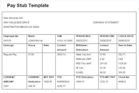create paycheck stub template free how to make a pay stub in excel check stub template free pay ontario
