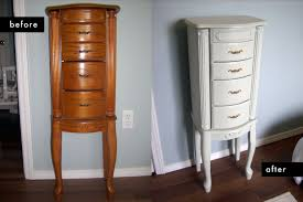 standing jewelry box.  Jewelry DIY Project Painted Jewelry Case Inside Standing Box