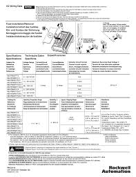 rockwell automation 1492 ifmxxx fusible interface modules page4 specifications sp�cifications, technische daten specifiche on 1492 ifm40f f24 2 wiring diagram