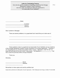 Template Letters To Landlord To Terminate Lease Best Of Example
