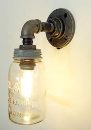 vintage bathroom lighting ideas. mason jar pendant light fixture vintage bathroom lighting ideas