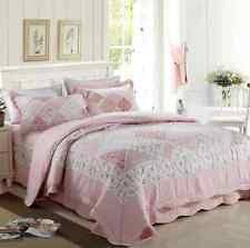 French Country 100% Cotton Quilts & Bedspreads | eBay & Cotton Patchwork Cotton Quilt Bedspread Coverlet Set 3 piece Queen King Adamdwight.com