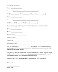 Sale Agreement Forms Selling A Car Privately Agreement Sample Sale Contract Forms