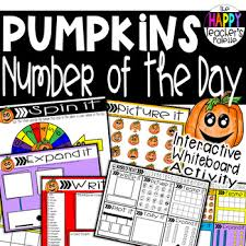 Interactive Number Flip Chart Number Of The Day Pumpkins Interactive Promethean Board