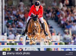 Rotterdam, Netherlands. 25th Aug, 2019. European Championships, equestrian  sport, jumping, finals, singles: The rider Jos Verlooy